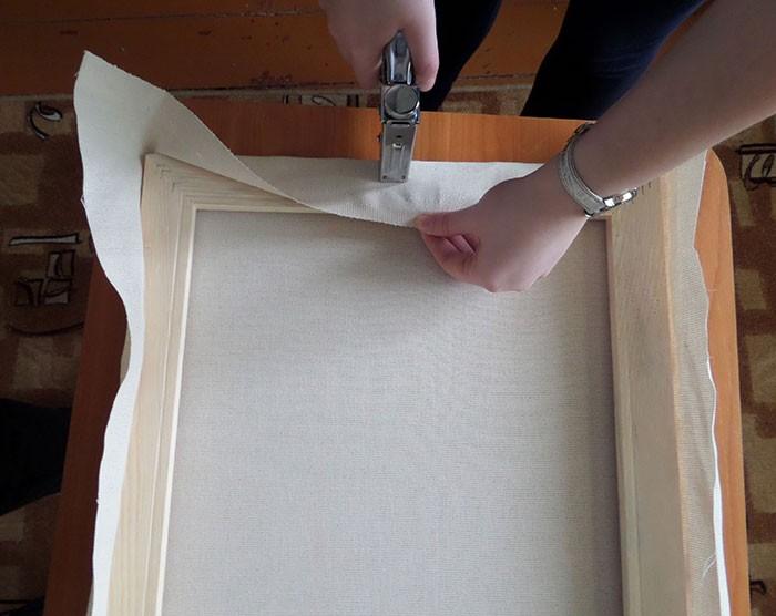 если ваше как натянуть ткань на подрамник абсорбции полиэстера