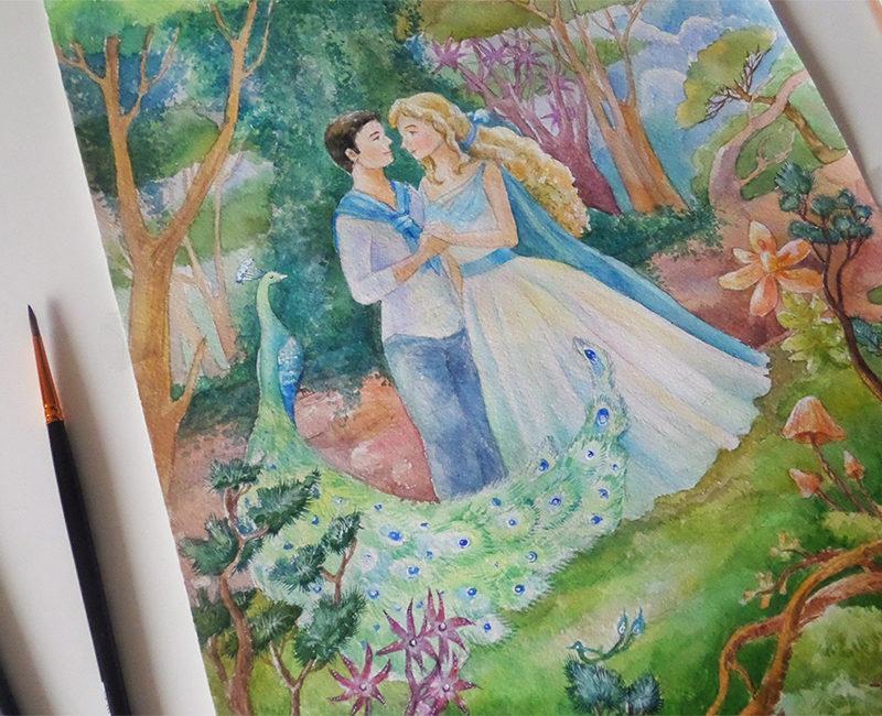 Влюбленная пара (заказная картина)